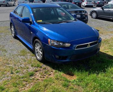 Salvage cars for sale from Copart Chambersburg, PA: 2010 Mitsubishi Lancer ES