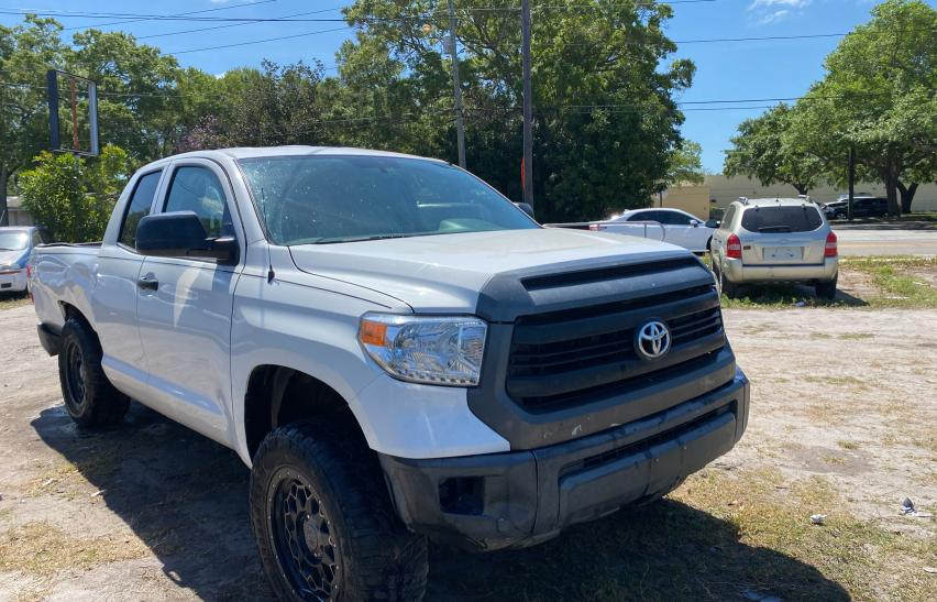 Salvage cars for sale from Copart Riverview, FL: 2015 Toyota Tundra DOU