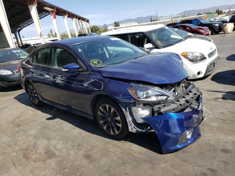 Nissan salvage cars for sale: 2017 Nissan Sentra SR