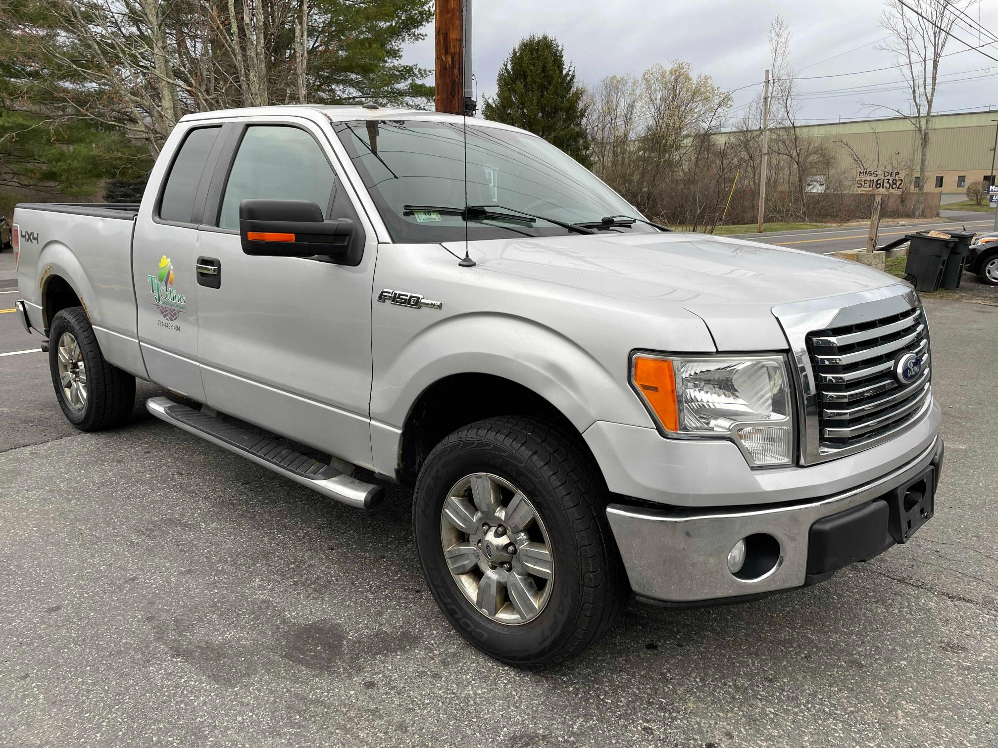 Salvage cars for sale from Copart Mendon, MA: 2010 Ford F150 Super