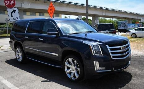 Salvage cars for sale from Copart Homestead, FL: 2017 Cadillac Escalade E
