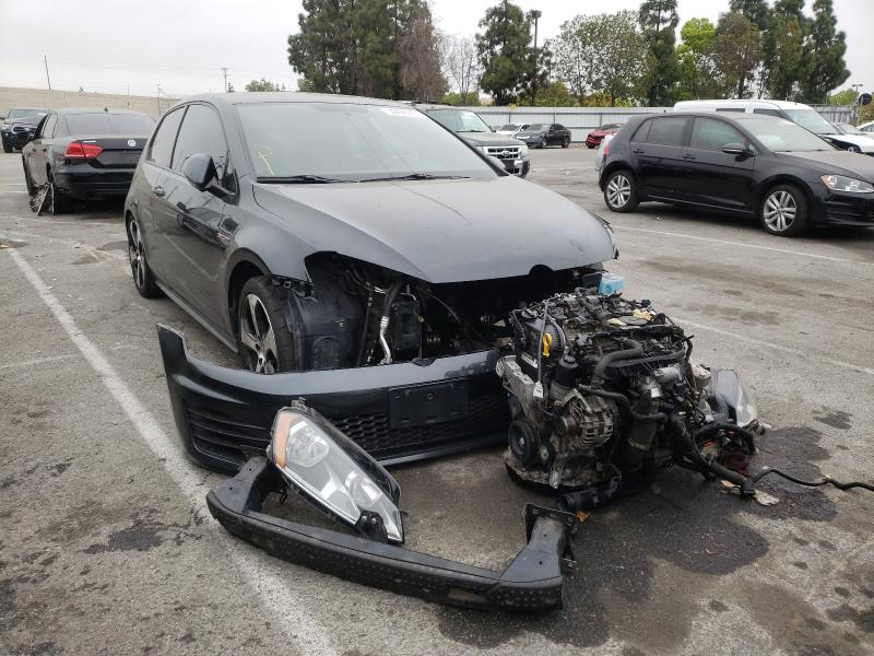 Salvage cars for sale from Copart Rancho Cucamonga, CA: 2016 Volkswagen GTI S/SE