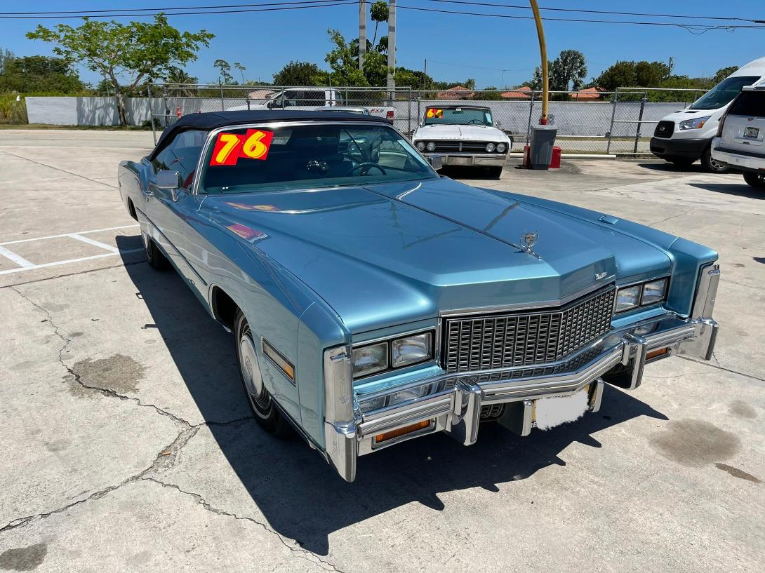 Salvage cars for sale from Copart Homestead, FL: 1976 Cadillac Eldorado