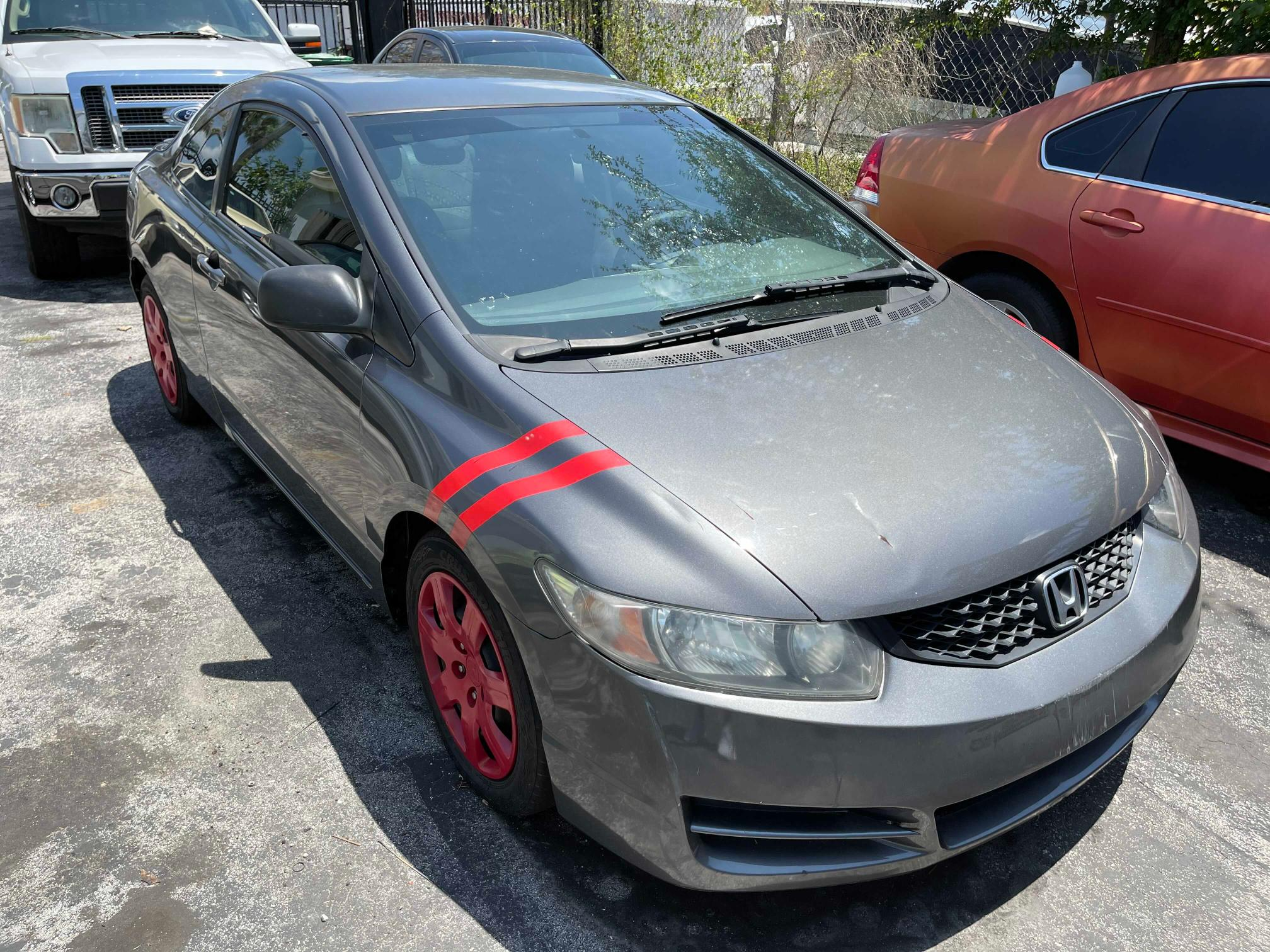 Salvage cars for sale from Copart Opa Locka, FL: 2011 Honda Civic LX