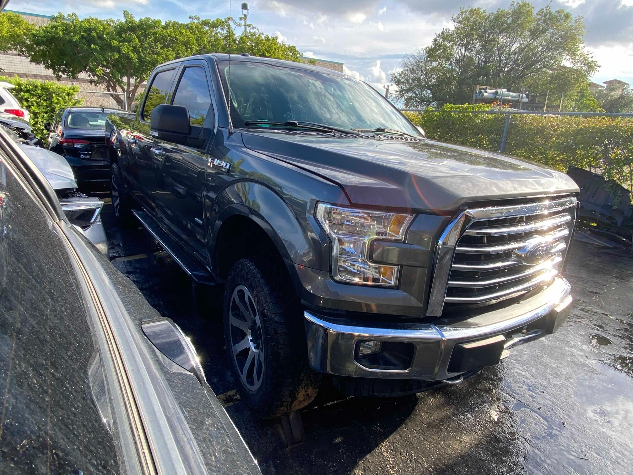 Salvage cars for sale from Copart Homestead, FL: 2015 Ford F150 Super