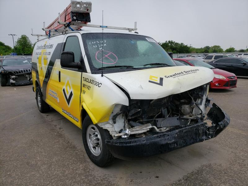 Salvage trucks for sale at Wilmer, TX auction: 2015 Chevrolet Express G2