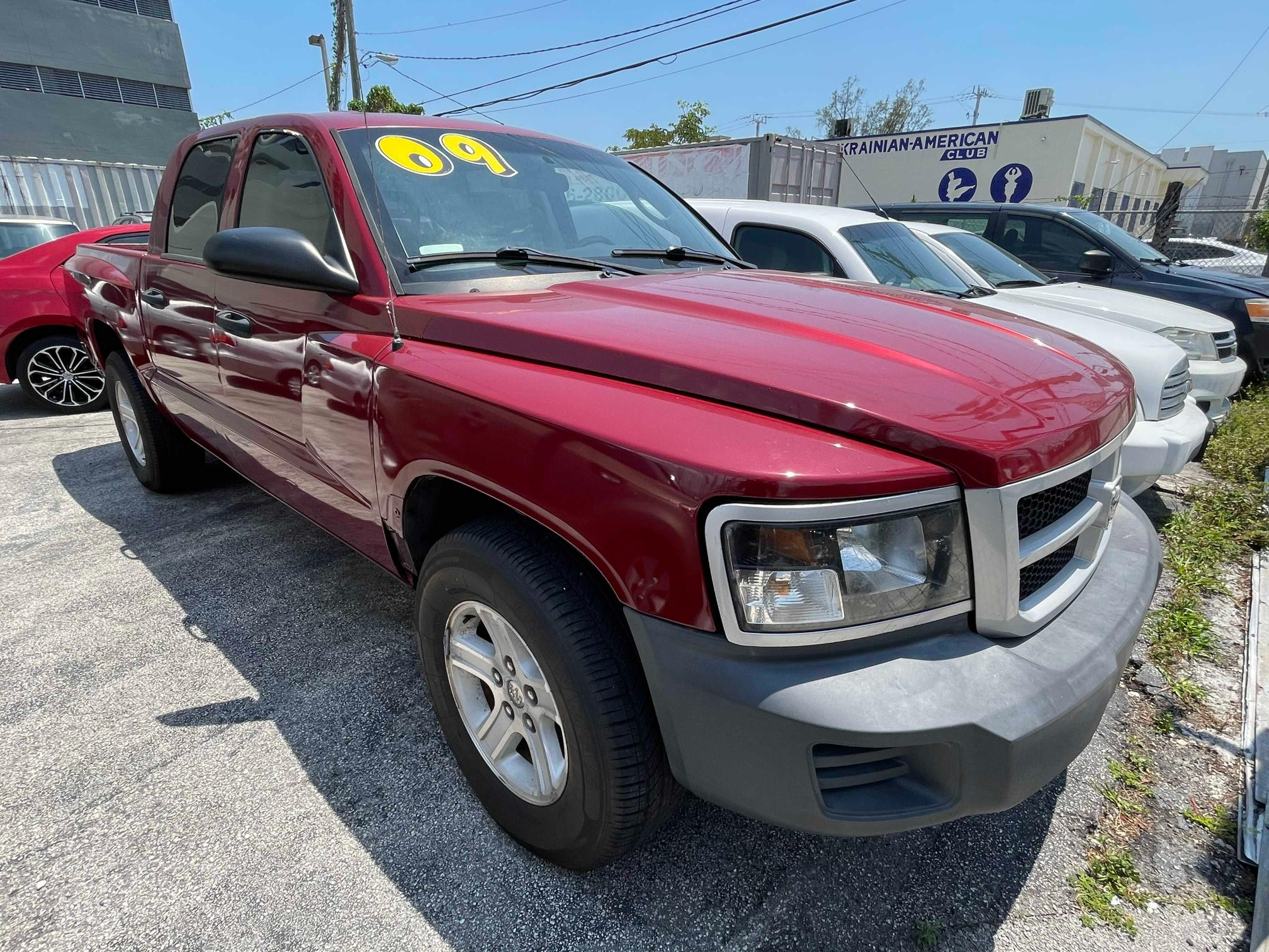 Vehiculos salvage en venta de Copart Miami, FL: 2009 Dodge Dakota SXT