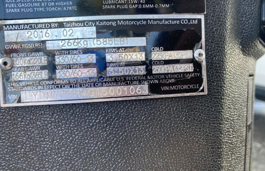 2016 Yiben Moped for sale in West Palm Beach, FL