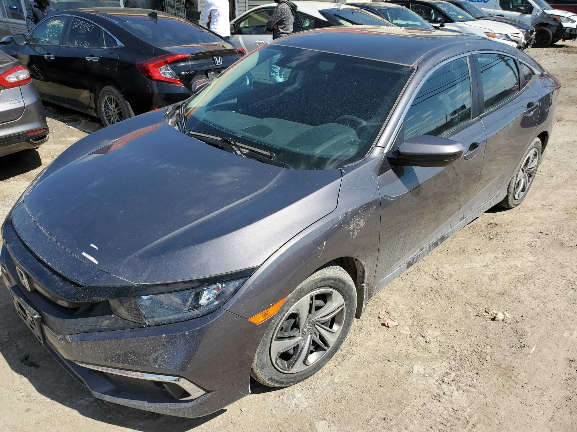 Salvage cars for sale from Copart Montreal Est, QC: 2019 Honda Civic LX