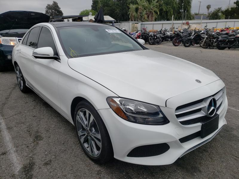 Salvage cars for sale from Copart Van Nuys, CA: 2018 Mercedes-Benz C300