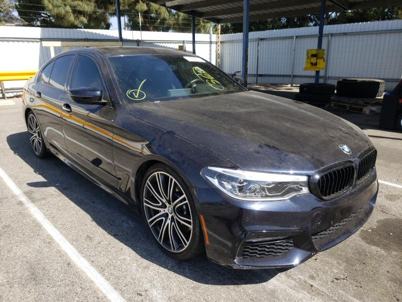 Salvage cars for sale from Copart Van Nuys, CA: 2017 BMW 540 I