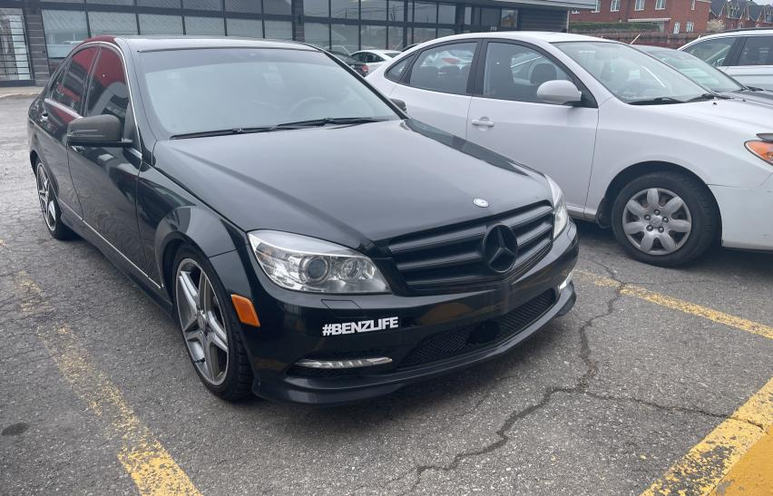 Salvage cars for sale from Copart Montreal Est, QC: 2011 Mercedes-Benz C 300 4matic