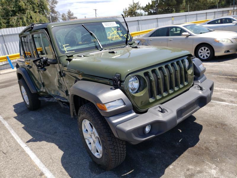 Vehiculos salvage en venta de Copart Van Nuys, CA: 2021 Jeep Wrangler U