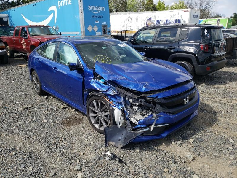 Salvage cars for sale from Copart Pennsburg, PA: 2019 Honda Civic EX