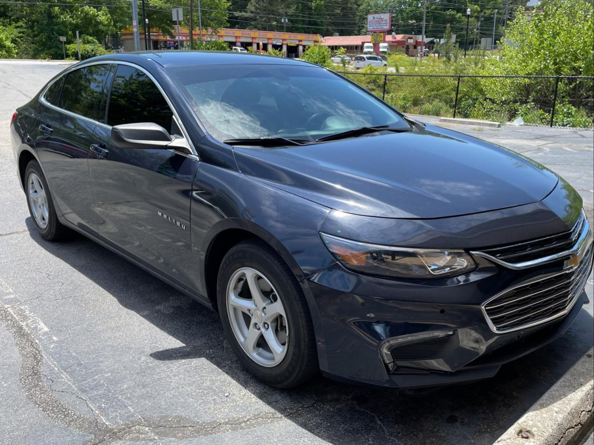 Salvage cars for sale from Copart Ellenwood, GA: 2018 Chevrolet Malibu LS