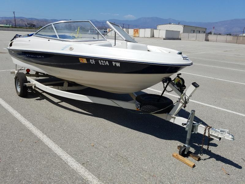 Salvage boats for sale at Van Nuys, CA auction: 2002 Bayliner Boat Only