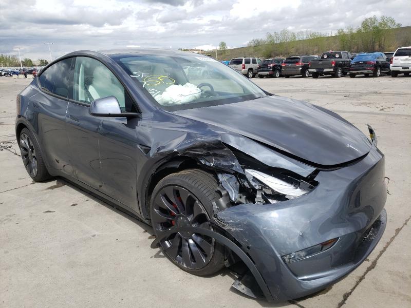 Tesla salvage cars for sale: 2020 Tesla Model Y