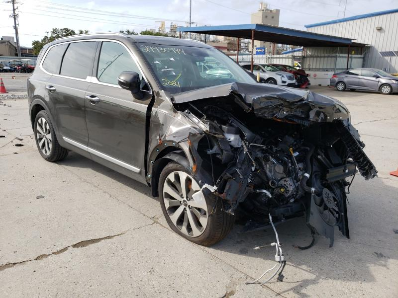 Salvage cars for sale from Copart New Orleans, LA: 2021 KIA Telluride