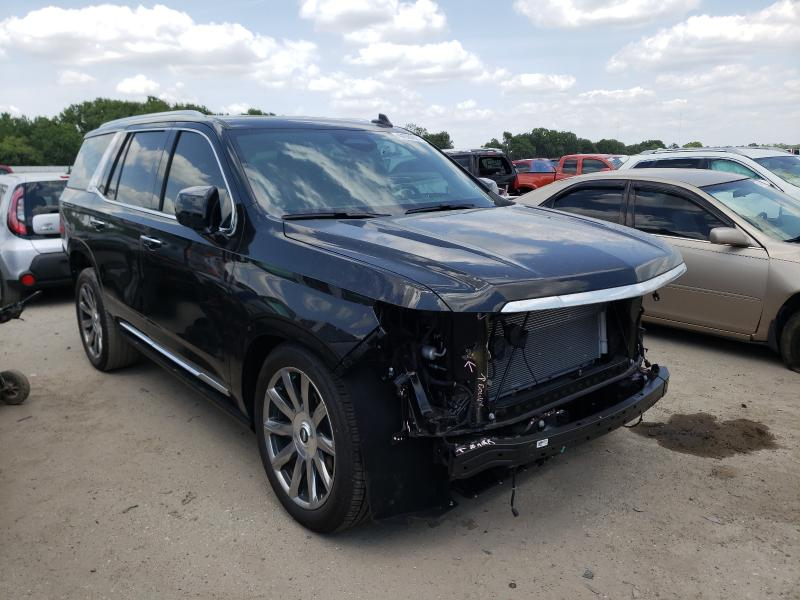 Salvage cars for sale from Copart Riverview, FL: 2021 Cadillac Escalade P