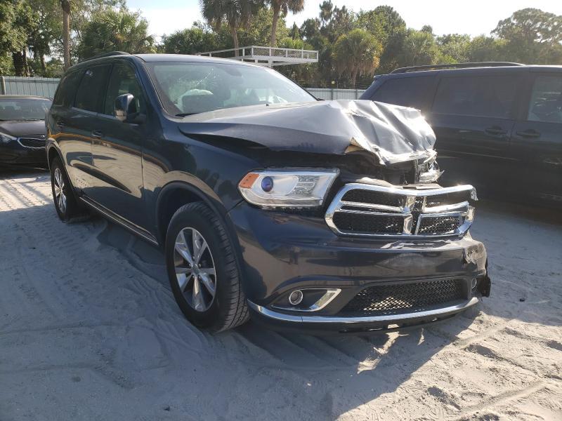 Salvage cars for sale at Fort Pierce, FL auction: 2016 Dodge Durango LI