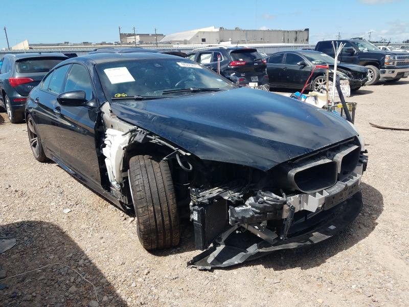 Salvage cars for sale from Copart Mercedes, TX: 2014 BMW M6 Gran Coupe