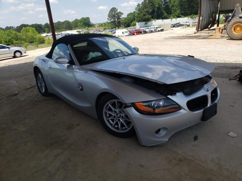 Salvage cars for sale from Copart Fairburn, GA: 2004 BMW Z4 2.5
