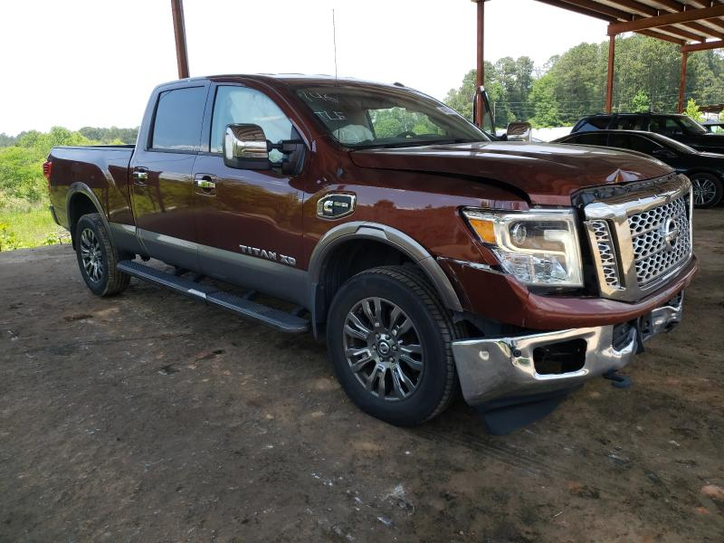 Salvage cars for sale from Copart Fairburn, GA: 2017 Nissan Titan XD S