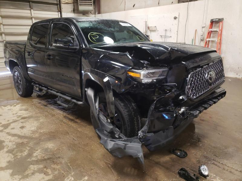 Salvage cars for sale from Copart Casper, WY: 2021 Toyota Tacoma DOU
