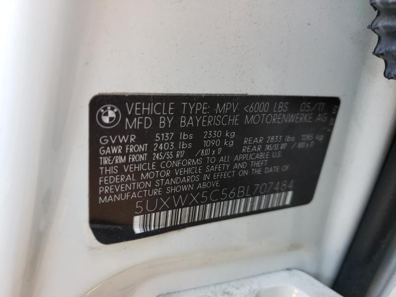 2011 BMW X3 XDRIVE2 5UXWX5C56BL707484