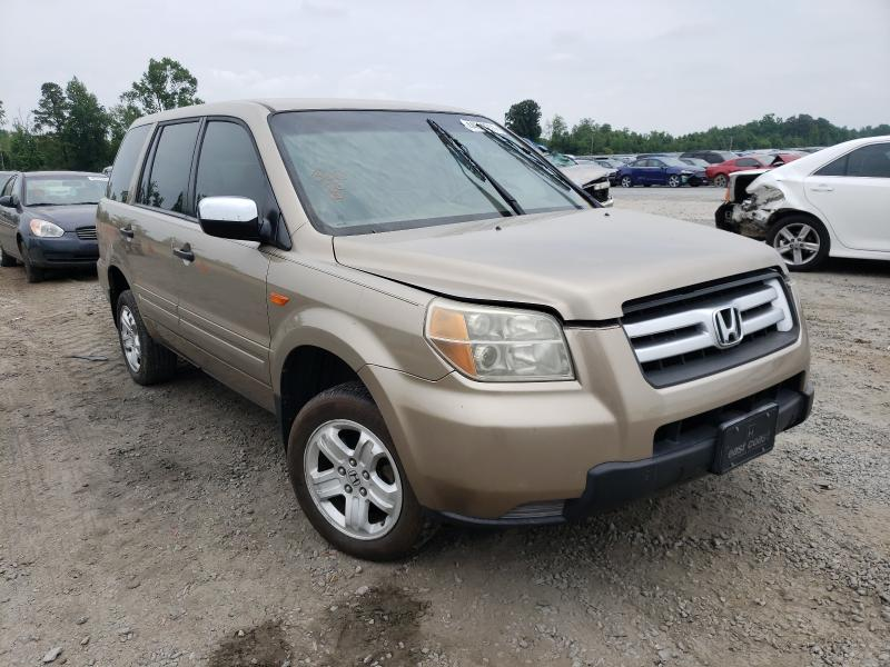 Salvage cars for sale from Copart Lumberton, NC: 2007 Honda Pilot LX