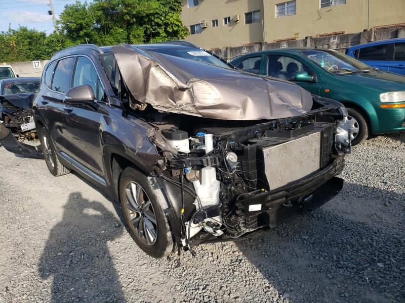 Salvage cars for sale from Copart Opa Locka, FL: 2020 Hyundai Santa FE S