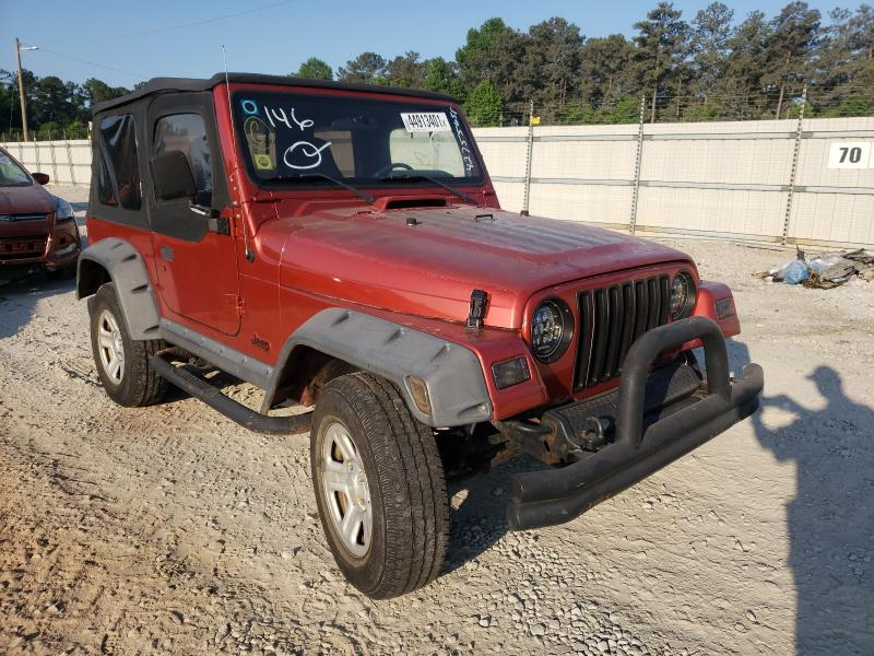 Salvage cars for sale from Copart Ellenwood, GA: 2002 Jeep Wrangler