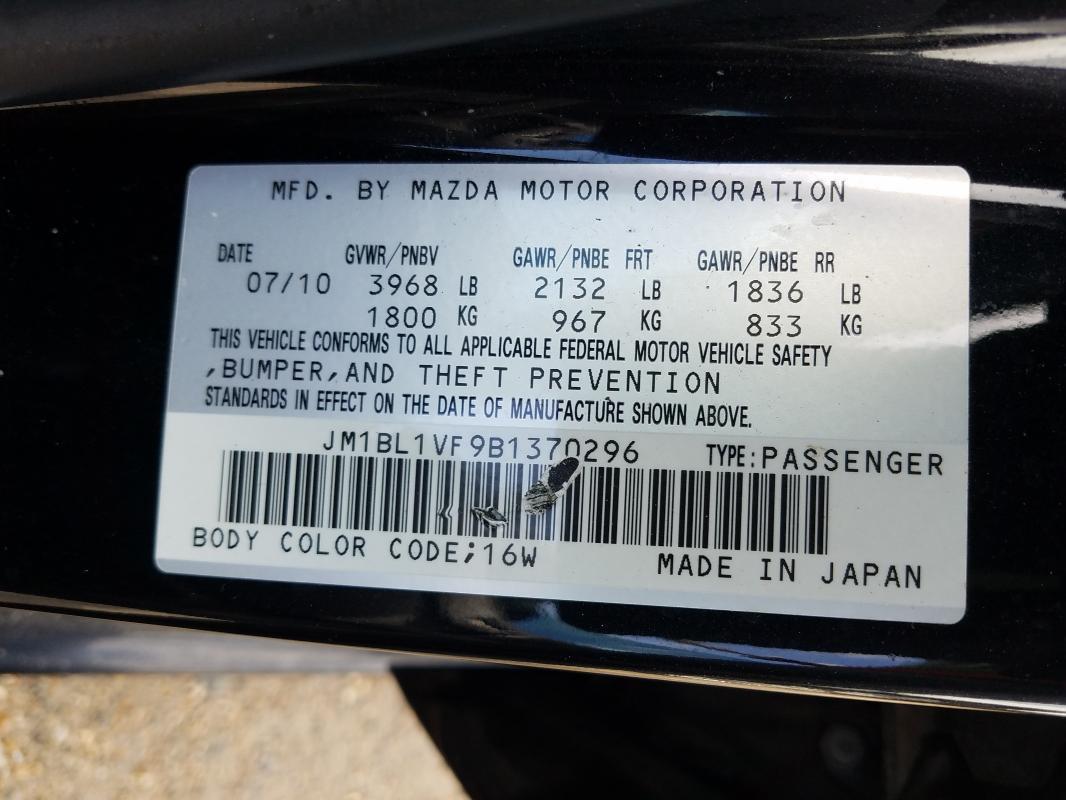 2011 MAZDA 3 I JM1BL1VF9B1370296