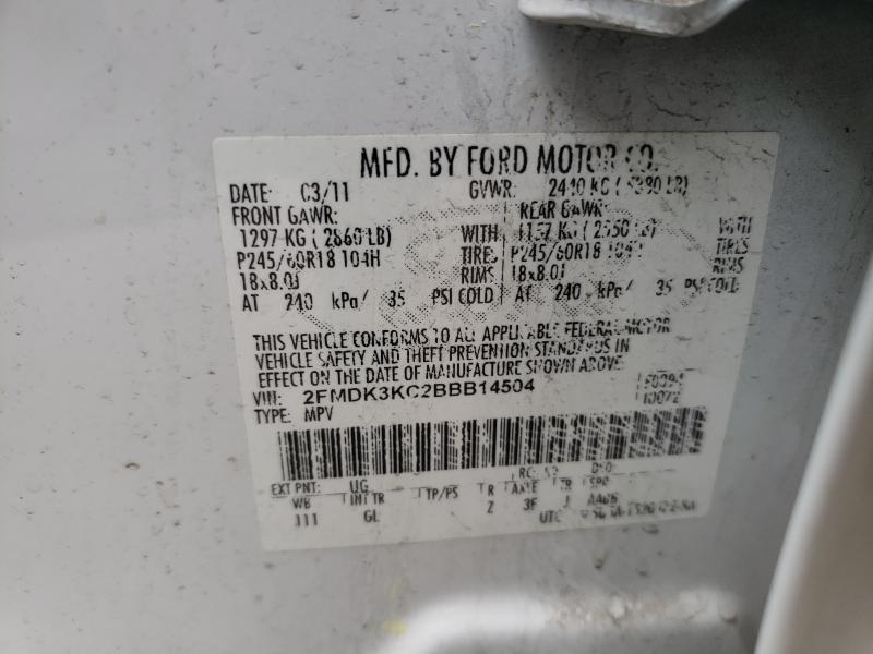 2011 FORD EDGE LIMIT 2FMDK3KC2BBB14504