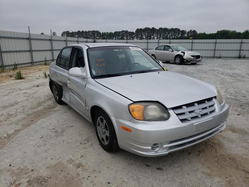 Hyundai Accent salvage cars for sale: 2003 Hyundai Accent