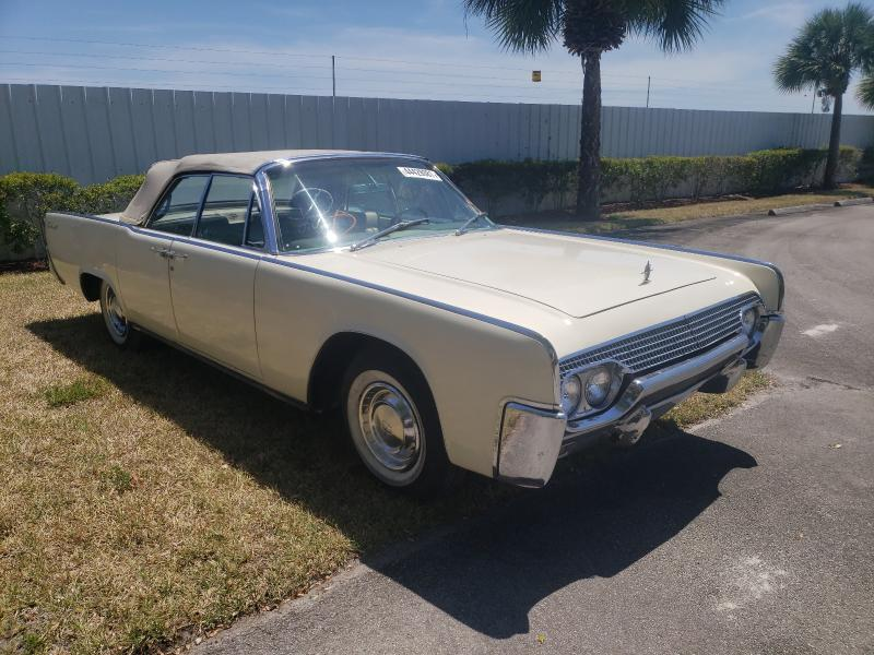 Lincoln salvage cars for sale: 1961 Lincoln Continental