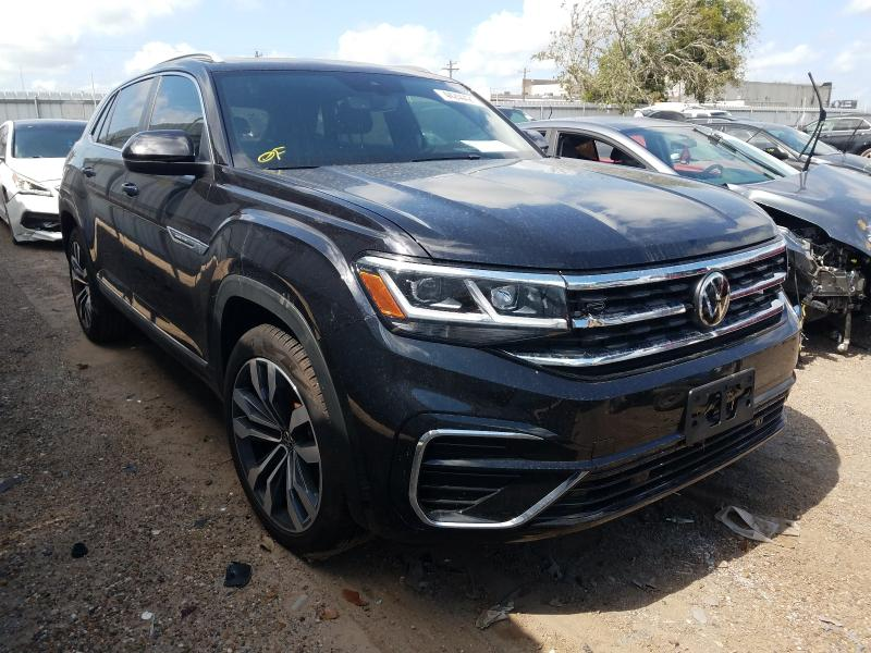 Salvage cars for sale from Copart Mercedes, TX: 2021 Volkswagen Atlas Cros