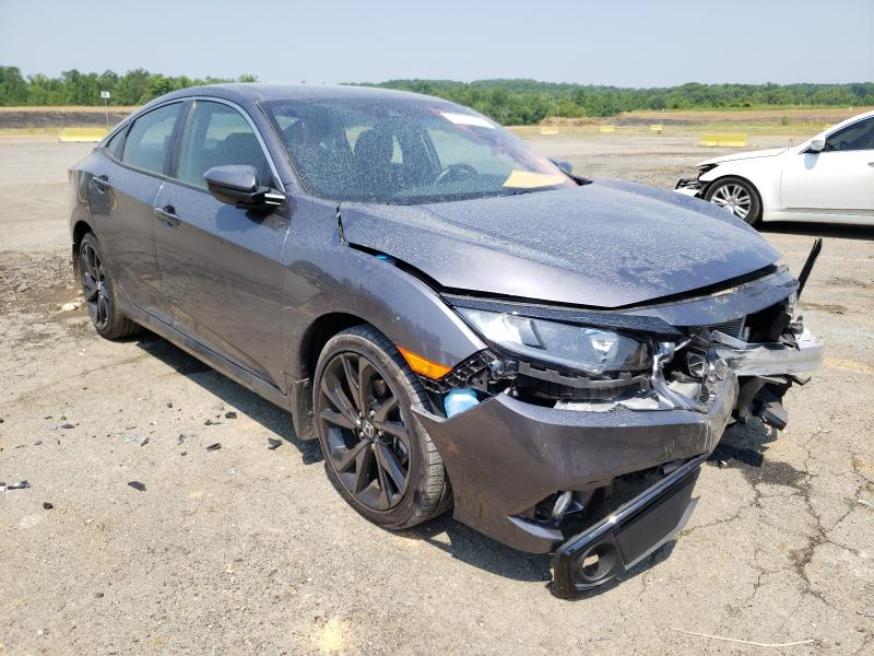 Salvage cars for sale from Copart Concord, NC: 2021 Honda Civic Sport