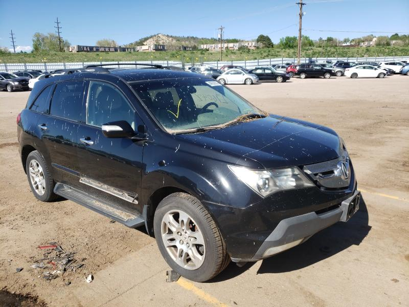 Salvage cars for sale from Copart Colorado Springs, CO: 2007 Acura MDX Techno