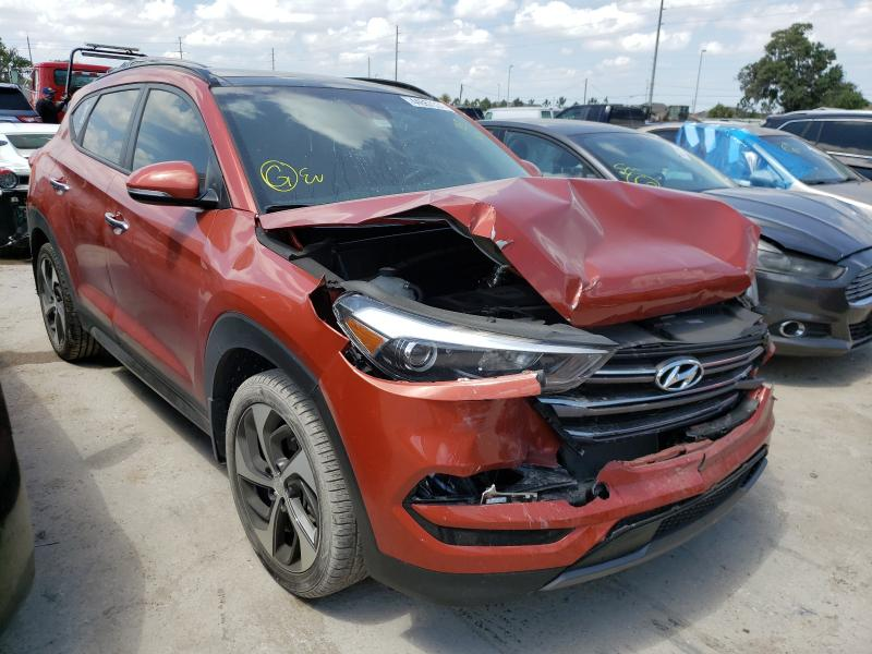 Salvage cars for sale from Copart Riverview, FL: 2016 Hyundai Tucson Limited