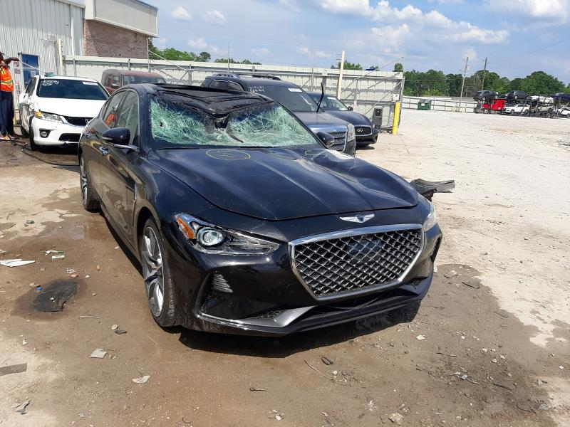 Salvage cars for sale from Copart Montgomery, AL: 2019 Genesis G70 Prestige