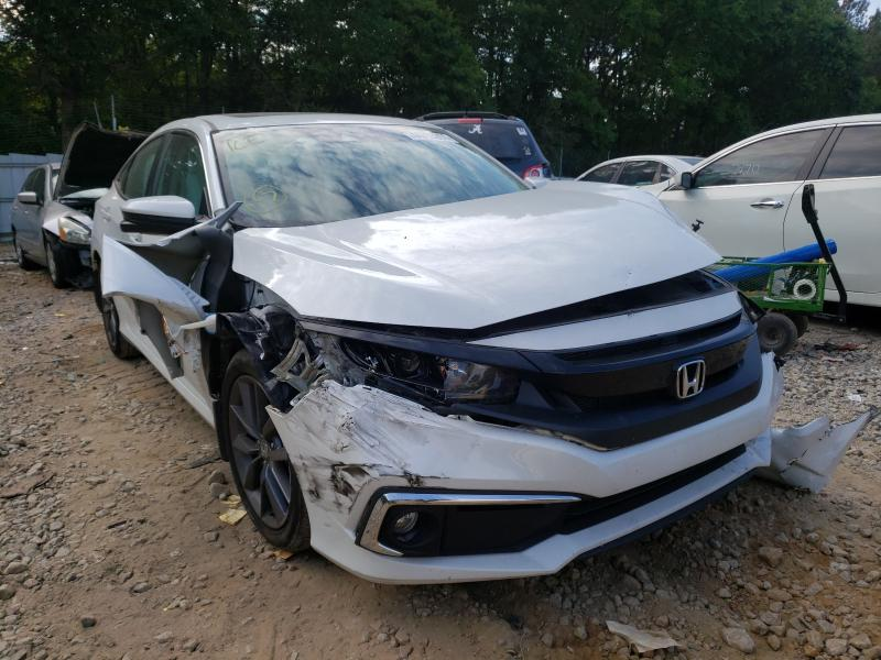 Salvage cars for sale from Copart Austell, GA: 2020 Honda Civic EX