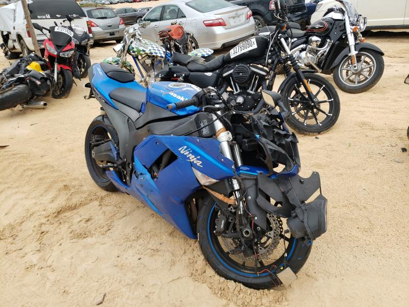 Salvage cars for sale from Copart Gaston, SC: 2008 Kawasaki ZX600 P
