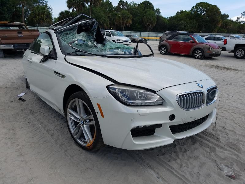 Salvage cars for sale at Fort Pierce, FL auction: 2015 BMW 650 I Gran