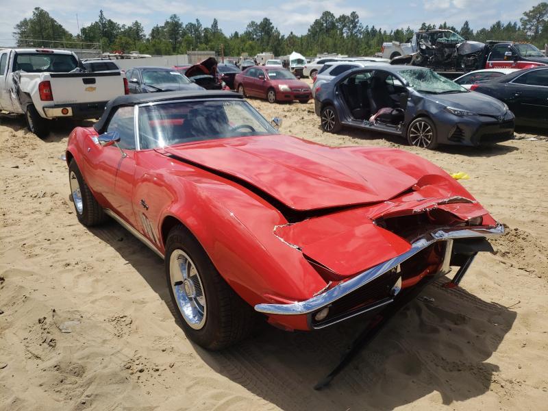 Chevrolet Corvette salvage cars for sale: 1969 Chevrolet Corvette