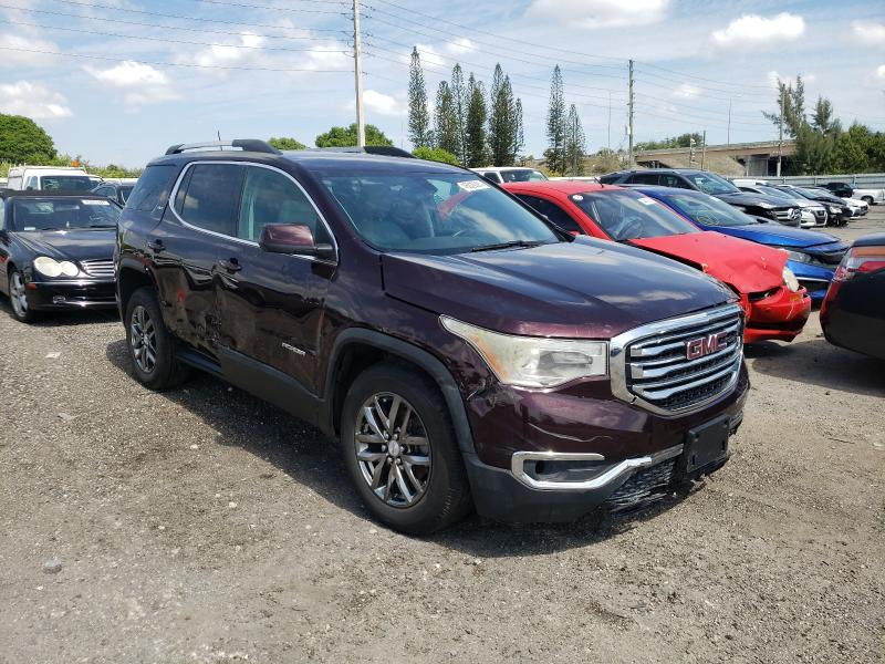 Salvage cars for sale at Miami, FL auction: 2017 GMC Acadia SLT