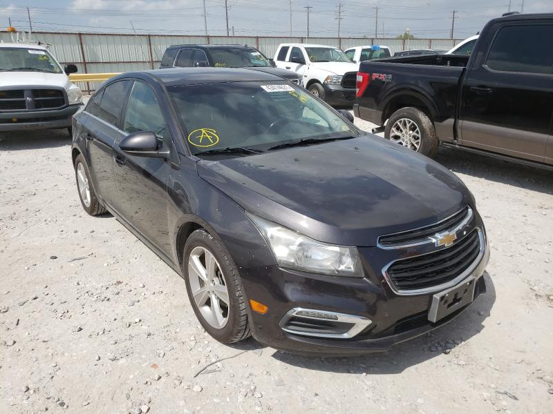Salvage cars for sale from Copart Haslet, TX: 2015 Chevrolet Cruze LT