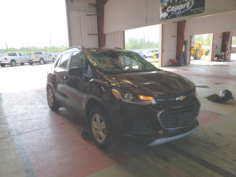 Salvage cars for sale from Copart Angola, NY: 2021 Chevrolet Trax 1LT
