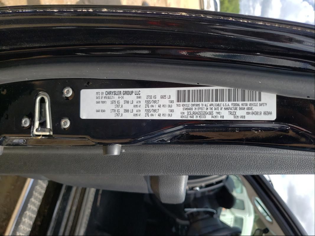 2014 RAM 1500 ST 3C6JR6AG5EG264365
