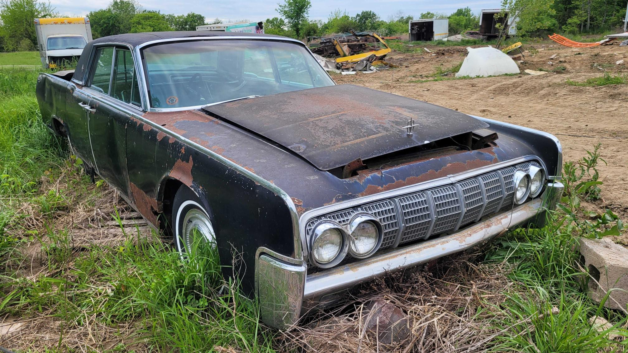 Salvage cars for sale from Copart Kansas City, KS: 1963 Lincoln Continental